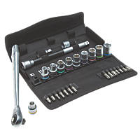 "Wera Zyklop 1/2"" Drive Ratchet Set 28 Pieces"