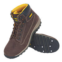DeWalt Hammer   Safety Boots Brown Size 8
