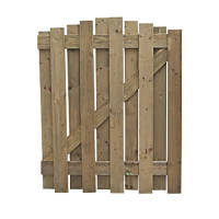 Forest Hit & Miss Dome Top Garden Gate 900 x 1100mm Natural Timber