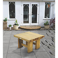 Forest Low Sleeper Garden Table 700 x 700 x 445mm