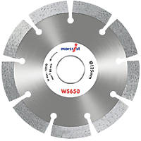 Marcrist WS650 Masonry Diamond Wall Chasing Blades 125 x 22.23mm 2 Pack
