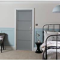 Jeld-Wen  Painted Grey Wooden 4-Panel Shaker Internal Door 1981 x 686mm