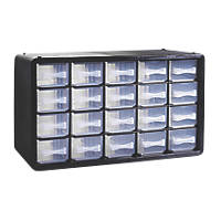 20-Drawer Plastic Storage Unit