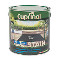 Cuprinol Anti-Slip Decking Stain Urban Slate 2.5Ltr