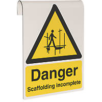 """Danger Scaffolding Incomplete"" Sign 500 x 300mm"