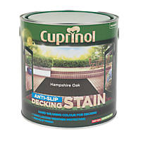 Cuprinol Anti-Slip Decking Stain Hampshire Oak 2.5Ltr