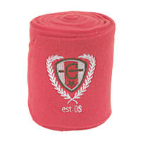 Covalliero Fleece Horse Leg Bandages Pink 120mm x 3m 4 Pack