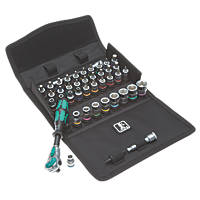 "Wera 8100 SC 7 Zyklop Metal Push Ratchet Set ½"" 28 Pieces"
