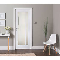 Jeld-Wen Worcester 3-Clear Light Primed White Wooden 3-Panel Internal Door 1981 x 762mm
