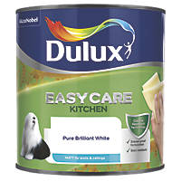 Dulux Easycare Kitchen Paint Matt Pure Brilliant White 2.5Ltr