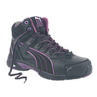 Puma Mid Stepper  Ladies Safety Trainer Boots Black Size 5