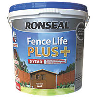 Ronseal Fence Life Plus Shed & Fence Treatment Harvest Gold 9Ltr
