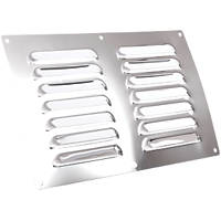 Map Vent Fixed Louvre Vent Chrome 229 x 152mm