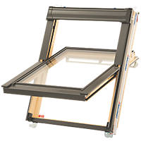 Keylite  T04 Manual Centre-Pivot Lacquered Timber Roof Window Clear 780 x 980mm