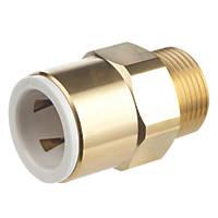 "Flomasta SBMC6764M Brass Push-Fit Adapting Male Pipe Fitting Adaptor 15mm x ½"""