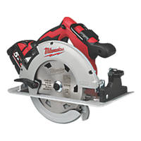Milwaukee M18 BLCS66-502X 190mm 18V 5.0Ah Li-Ion RedLithium Brushless Cordless Circular Saw