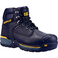 CAT Excavator   Safety Trainer Boots Black Size 8