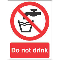 """Do Not Drink"" Sign 210 x 148mm"