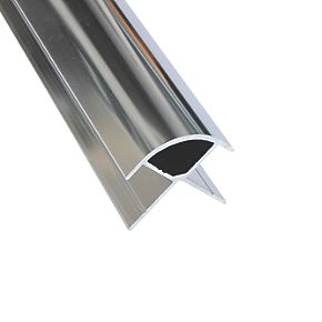 Splashwall External Corner Polished Silver 2420 X 11mm Bathroom Wall Panels Screwfix Com