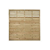 Forest Kyoto Bespoke Design Lattice Top Fence Panels 6 x 6' Pack of 5