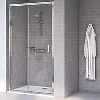 Aqualux Edge 8 Sliding Shower Door Polished Silver 1400 x 2000mm