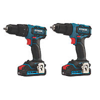 Erbauer EDD18-Li-2 / ECD18-Li-2 18V 2.0Ah Li-Ion EXT Brushless Cordless Twin Pack