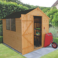 Forest 6' x 8' (Nominal) Apex Shiplap Timber Shed with Base