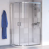 Aqualux Edge 6 Offset Quadrant Shower Enclosure LH/RH Polished Silver 1000 x 800 x 1900mm