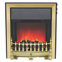 Be Modern Fazer Black / Brass Switch Control Inset Electric Fire