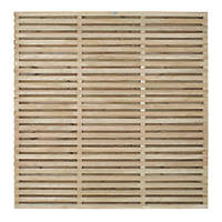 Forest VENHHM6PK4HD Double-Slatted  Fence Panel 6 x 6' Pack of 4