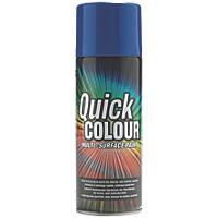Quick Colour Spray Paint Gloss Blue 400ml