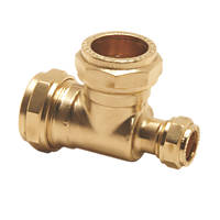 Pegler PX50B Brass Compression Reducing Tee 22 x 15 x 22mm