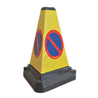 "Melba Swintex ""No Waiting"" 3-Sided Traffic Bollard 500mm"