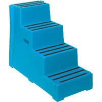 Polyethylene 4-Step Safety Steps 820mm Blue
