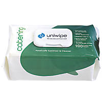 Uniwipe Catering Cleaning Wipes White 600 Pack