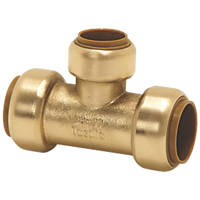 Tectite Classic  Brass Push-Fit Reducing Tee 22 x 22 x 15mm