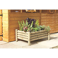 Forest Rectangular Raised Log Planter  1000 x 670 x 400mm
