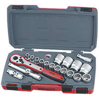 "Teng Tools T1220AF 1/2"" Drive Socket Set 20 Pieces"