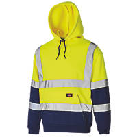 "Dickies SA22095 Hi-Vis 2-Tone Hoodie Yellow/Navy Medium 42"" Chest"