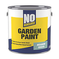 No Nonsense Garden Colour Wood Paint Semi-Matt Meadow Grass 2.5Ltr