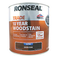 Ronseal Trade 10-Year Woodstain Satin Dark Oak 750ml