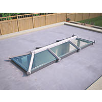 ATT Fabrications Ltd Clear Glass Roof Lantern White 3000 x 1000mm