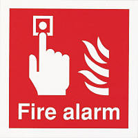 "Nite-Glo  ""Fire Alarm"" Sign 150 x 150mm"