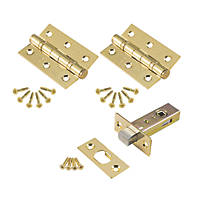 Smith & Locke Internal Bathroom Pack Electro Brass