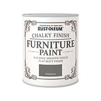 Rust-oleum Universal Furniture Paint Chalky Anthracite Grey 750ml