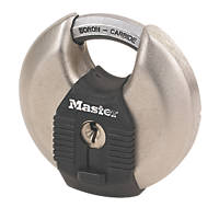 Master Lock Excell Stainless Steel  Weatherproof  Disc Padlock 70mm