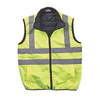 "Site  Reversible Hi-Vis Body Warmer Yellow Medium 46"" Chest"