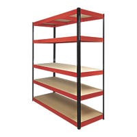 RB Boss Powder-Coated Boltless Freestanding Shelving 5-Tier 1600 x 600 x 1800mm