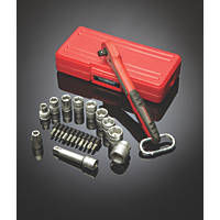 "Teng Tools T1422 1/4"" Metric Socket Set 22 Pieces"