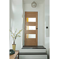 Jeld-Wen  3-Clear Light Unfinished Oak Veneer Wooden Cottage Internal Door 1981 x 686mm